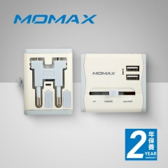 Momax 1 World USB 旅行插座(UK) 2USB PORTS (白色 藍色)UA4