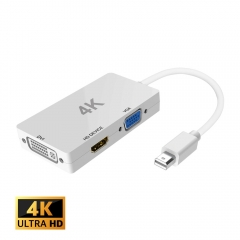 Mini DisplayPort TO DVI VGA HDMI電視HDTV轉換器HDMI  4K
