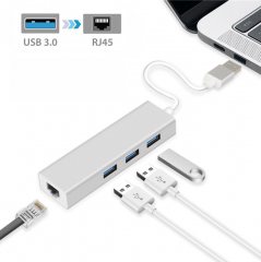 USB A  TO Gigabit Ethernet (千兆乙太網) +3x 3.0USB HUB